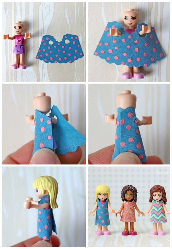 Dresses for the Lego Friends Mini Figures