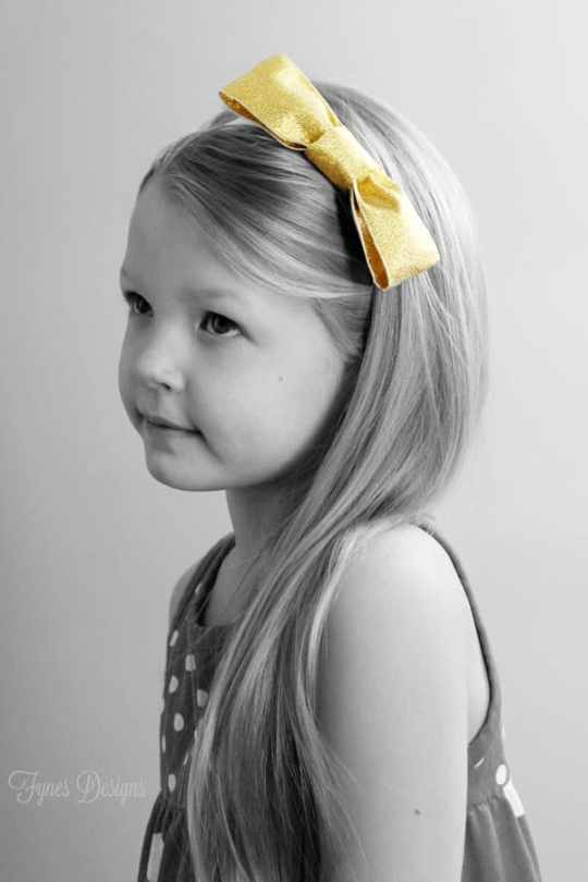 One tutorial 2 projects! #bowtie #hairband #kids #accessories #gold