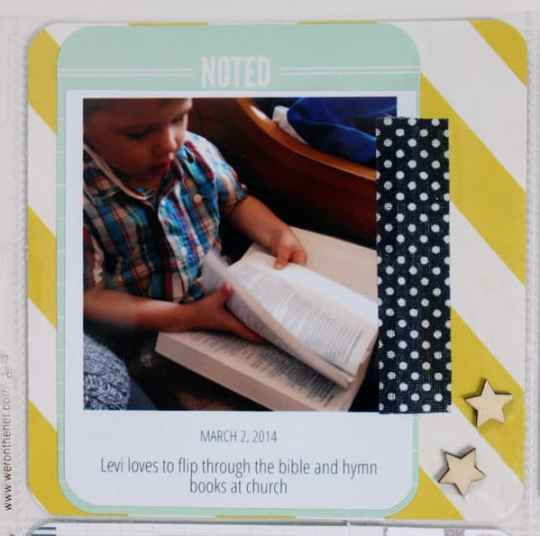 Project life using the collect app #scrapbooking #apps #projectlife #pl