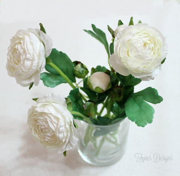 pretty faux flowers