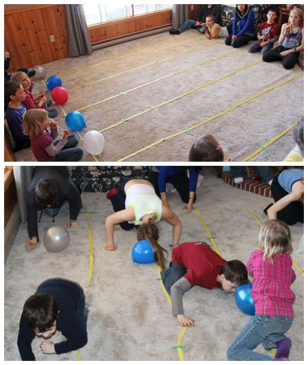 Fun and cheap party games easter olympics fynes designs for Balloon party games