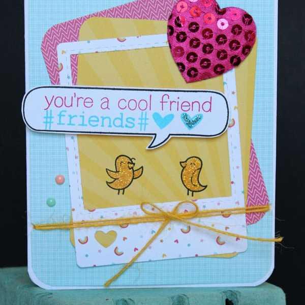 Lawn Fawn and May Arts Ribbon Card