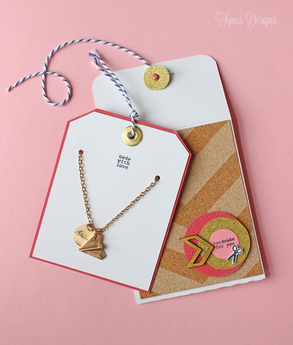 Easy Handmade greeting card with a free template- perfect for earings, gift-cards, necklaces, or just kind words FREE template
