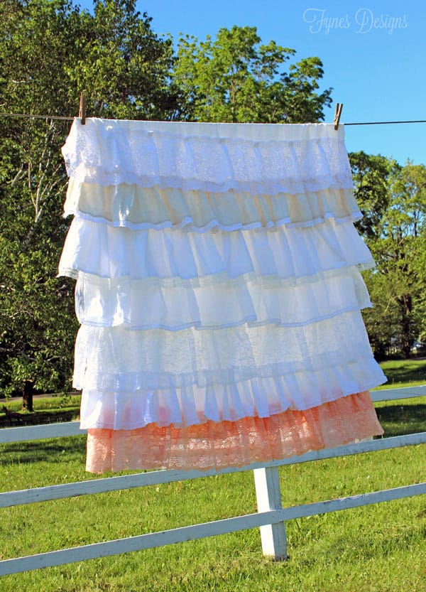 Vintage Lace Ruffled Tablecloth