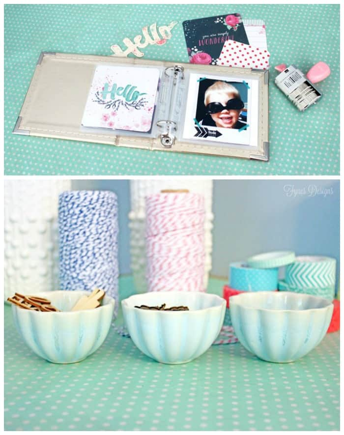 Dress up a vintage card table by adding a layer of wrapping paper with Mod Podge