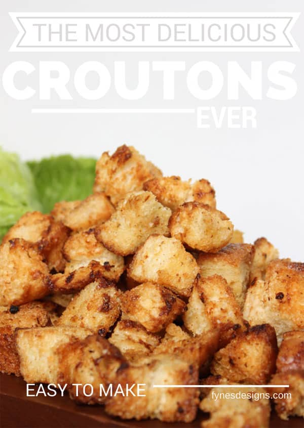 Delicious and EASY to make you have to try these croutons