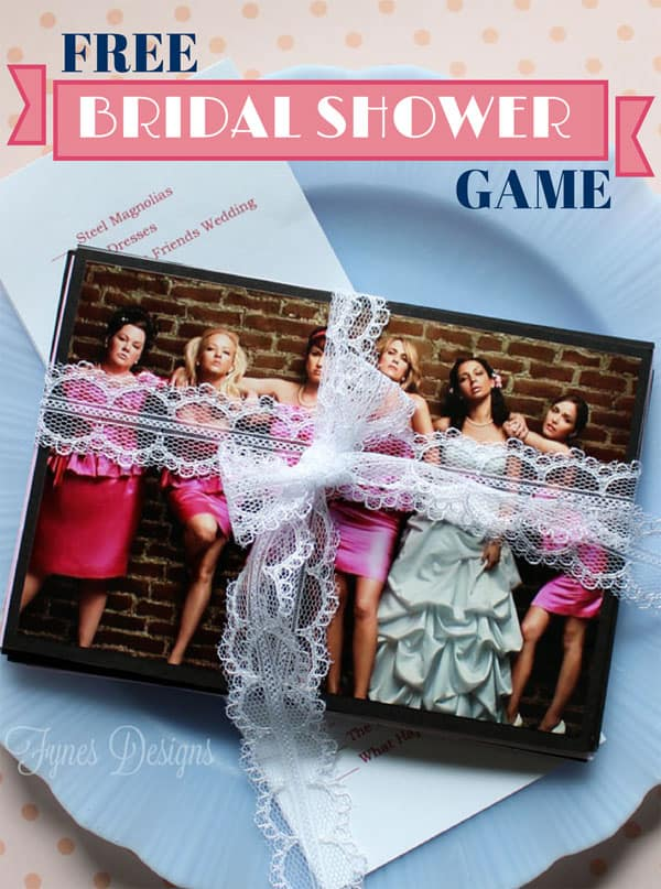 Wedding Movie Matchup- Free Bridal Shower Game