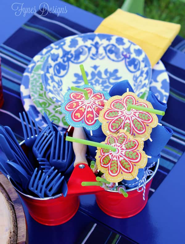 Patio party decor #Pier1OutdoorParty