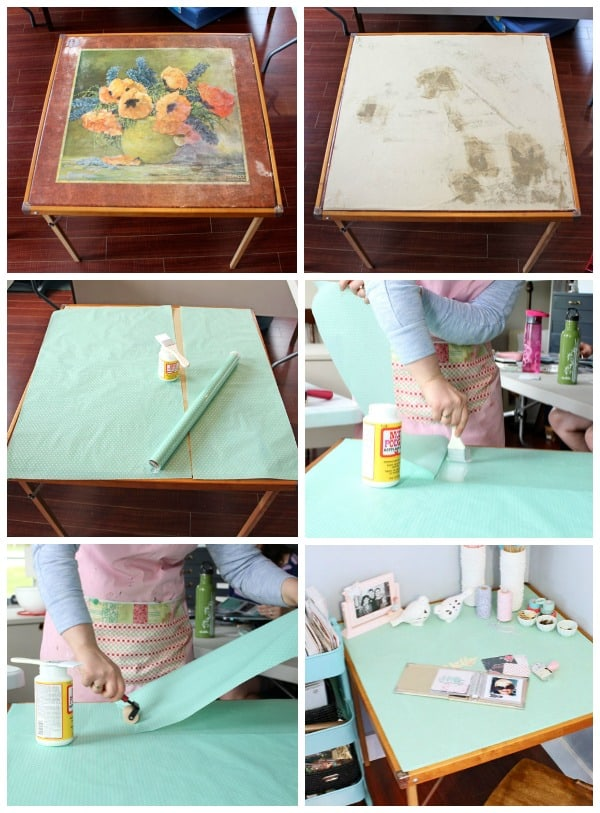 How to give an old table a quick makeover