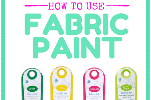 Easy tutorial for how to use fabric paint #Silhouette