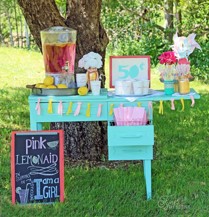 Create this easy DIY Lemonade Stand for under $10!