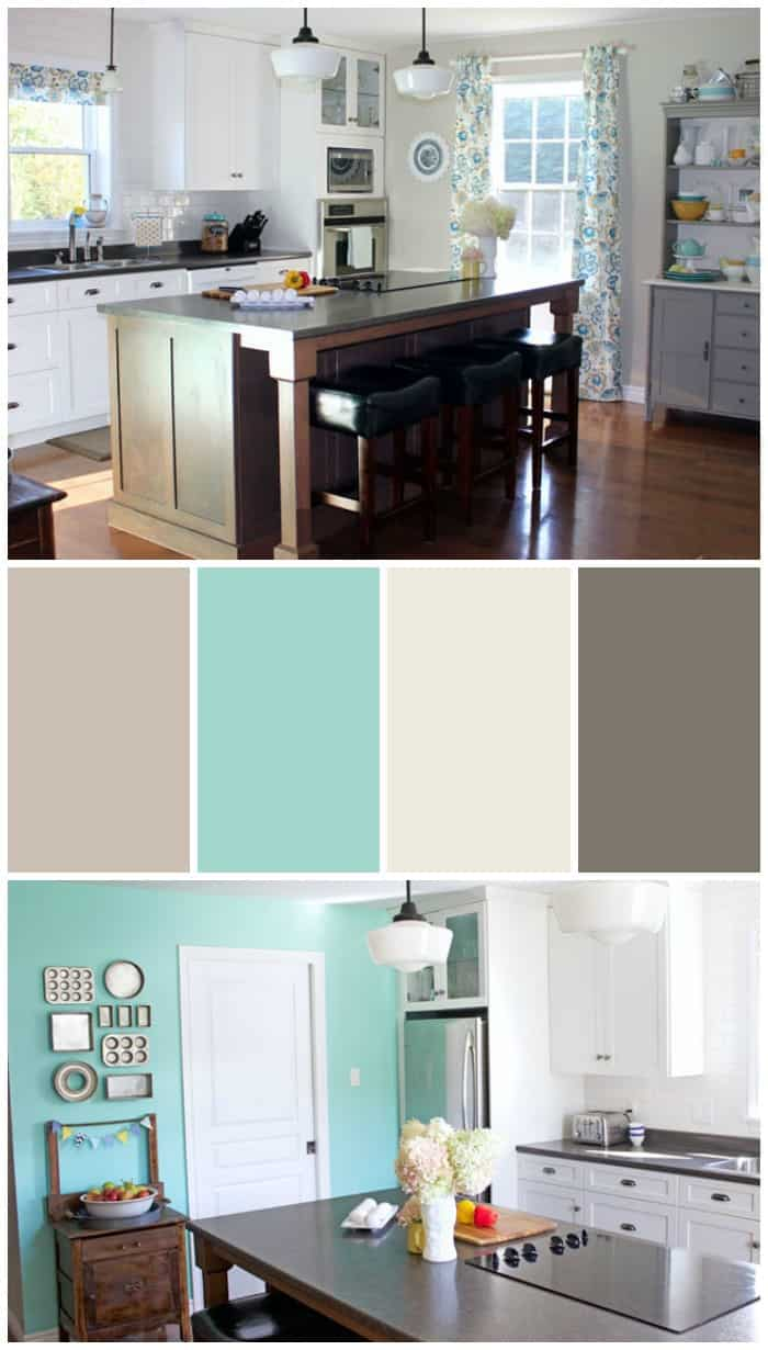 Paint selection from Voice of Color for a Modern Farmhouse Kitchen