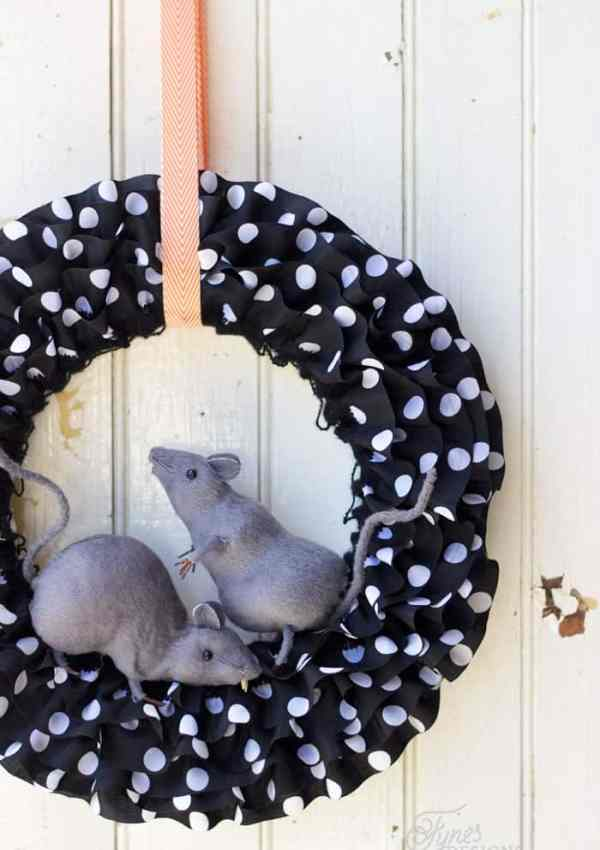 Halloween Rat Wreath