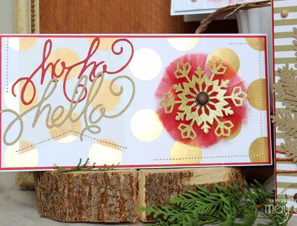 Red and Gold Christmas Card Ideas