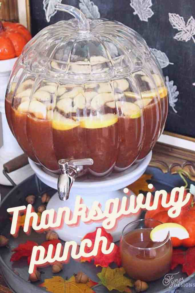 Apple Cider Punch recipe. Perfect for Thanksgiving