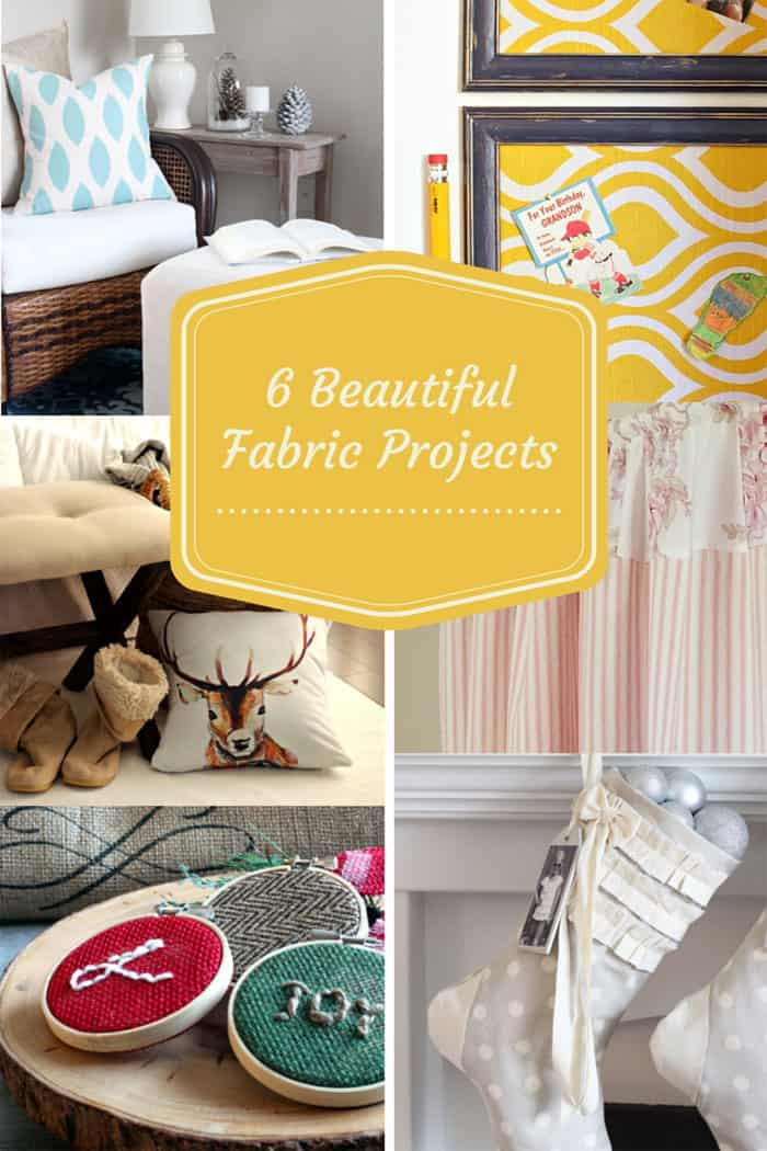 6 beautiful fabric projects #oneitemchallenge