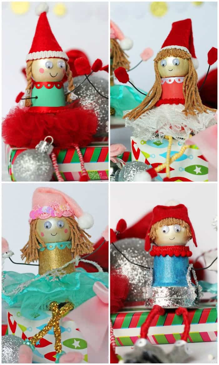 How to make plant pot Christmas elves- kids craft idea