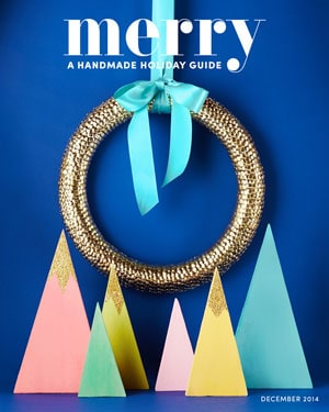 Merry Mag- holiday inspiration | Christmas Wreath by popular Canada DIY blog, Fynes Designs: image of the cover of Merry A Handmade Holiday Guide.