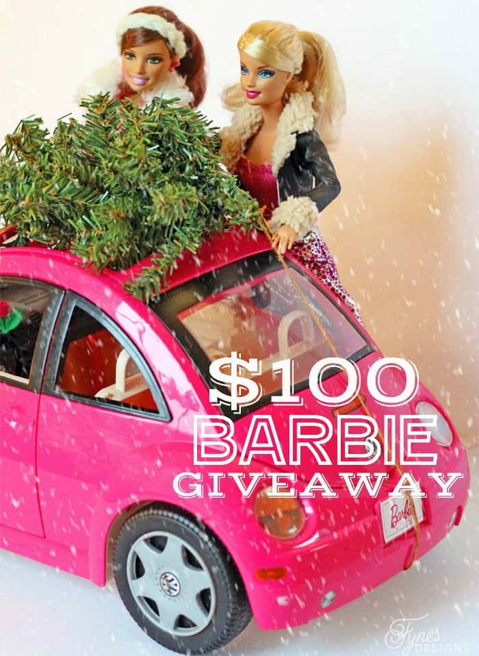 $100 Christmas Barbie Giveaway