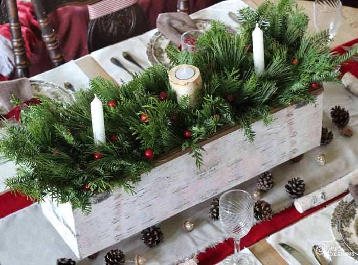 christmas table centrepiece one item challenge fynes designs fynes designs - Wooden Box Christmas Decorations