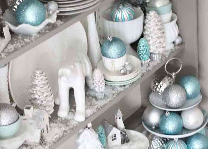 Tips for styling a Christmas hutch