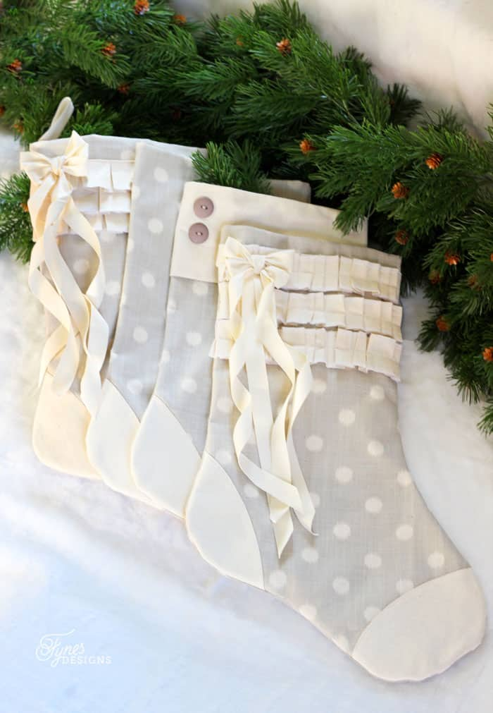 make your own handmade christmas stockings with this easy tutorial