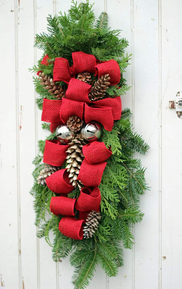 Outdoor Christmas Window Swags.How To Make A Christmas Swag Wreath Fynes Designs