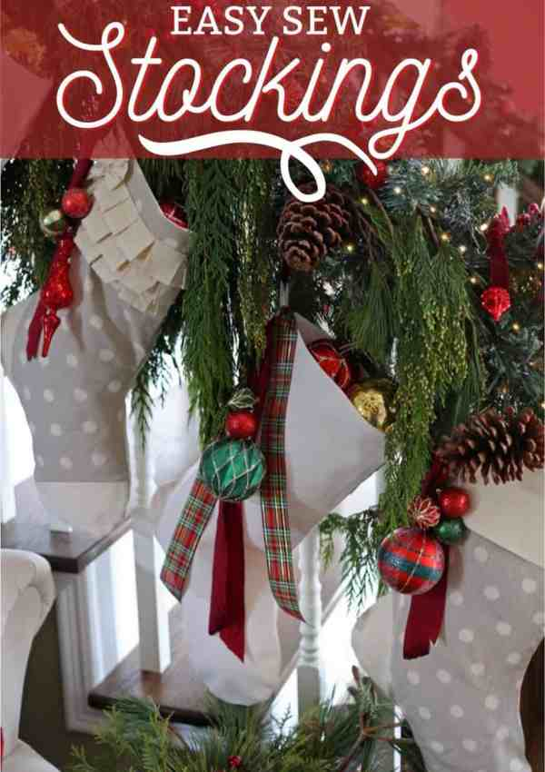 Tutorial: Easy to Sew Personalized Christmas Stockings