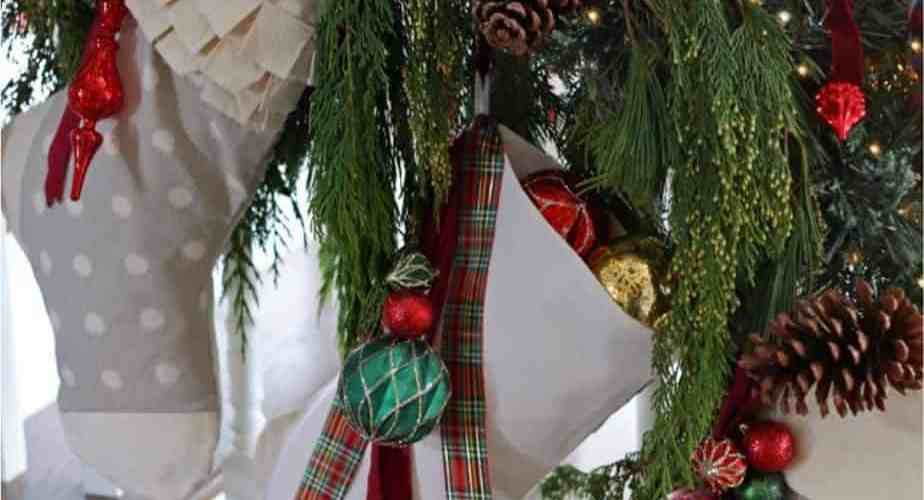 Easy to Sew Handmade Christmas Stockings, with a free template