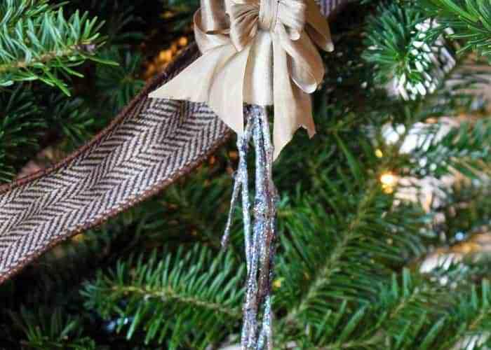 Snowy Twig Christmas Tree ornaments