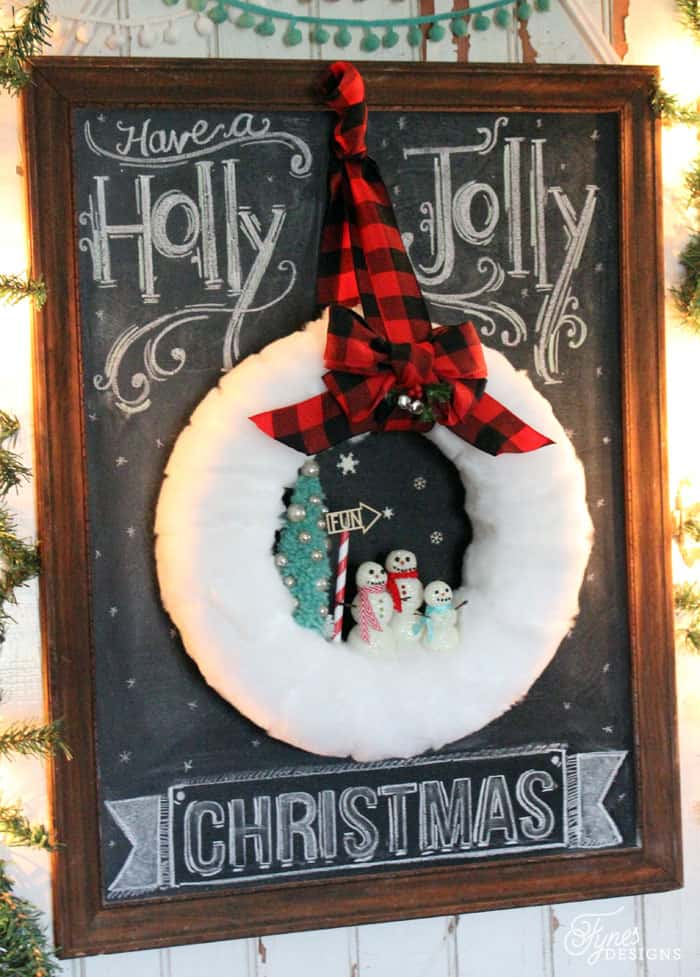 Fun Glittery snowman wreath