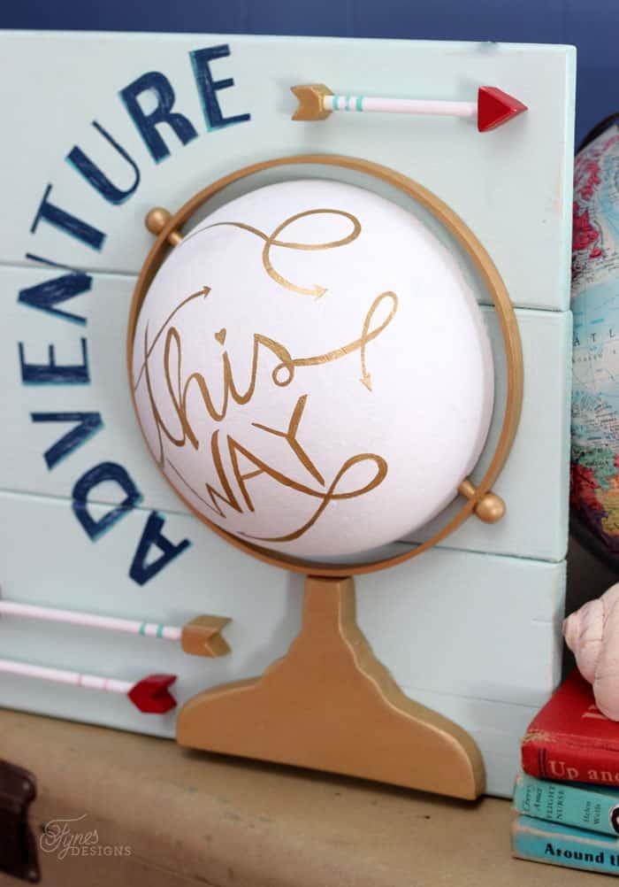 Use a foam ball to make a faux globe