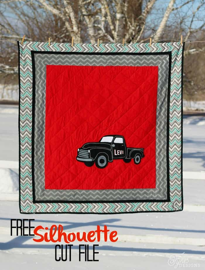 Free Vintage Truck Silhouette America Cut File