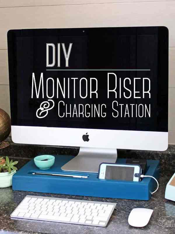 DIY Monitor Riser and Charging Station