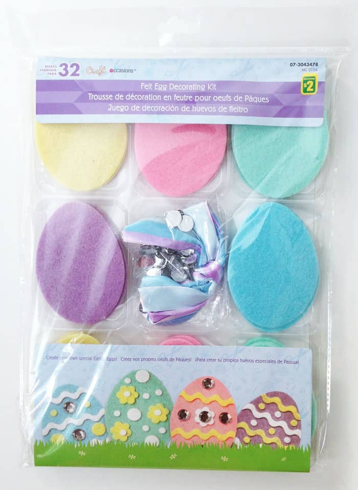 Use a dollar store craft pack to make an easy Easter Egg Garland