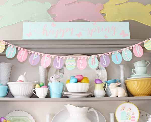 Easy Happy Easter Egg Garland