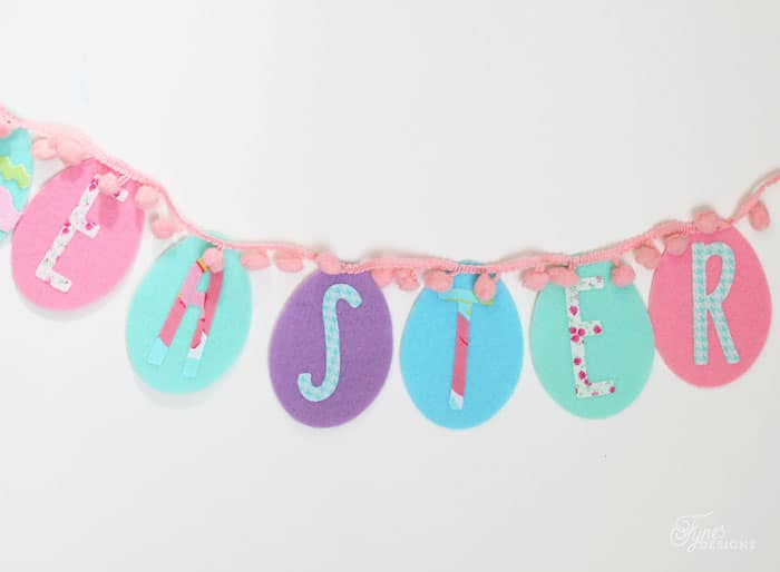 Easter Garland made from pre cut easter eggs from the dollar store