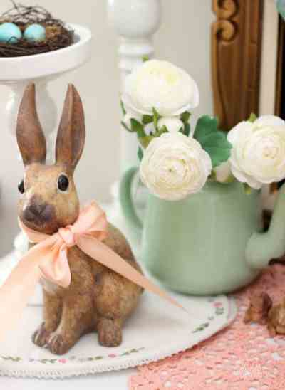 Easter vignette with Peter Rabbit