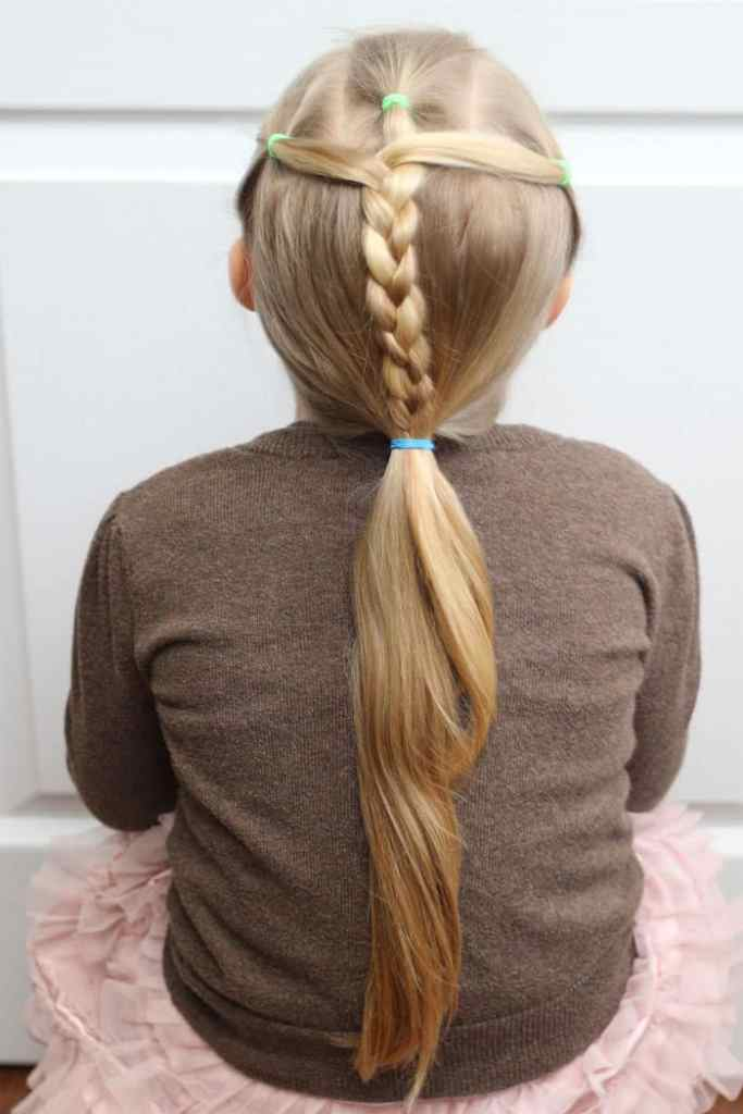 5 Minute Hairstyles for School featured by top US life and style blog, Fynes Designs |5 Minute Hairstyles by popular Canada lifestyle blog, Fynes Designs: image of a braid ponytail hairstyle.