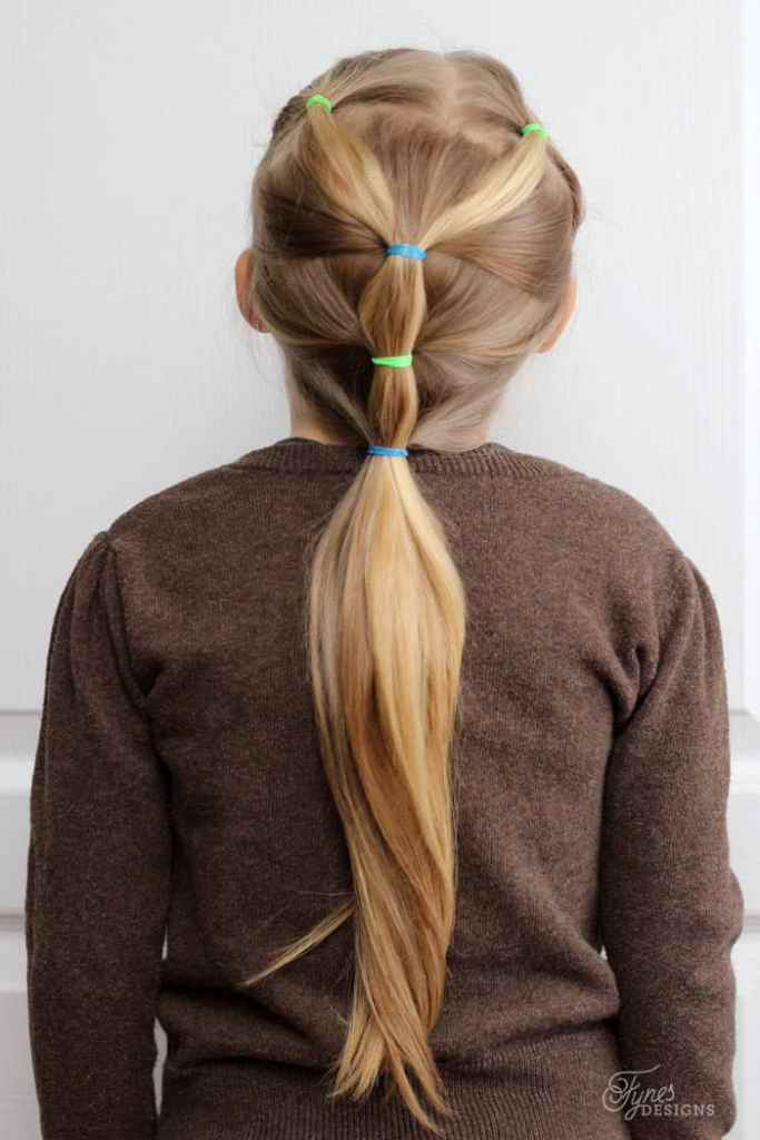 5 Minute Hairstyles for School featured by top US life and style blog, Fynes Designs |5 Minute Hairstyles by popular Canada lifestyle blog, Fynes Designs: image of a ponytail hairstyle.