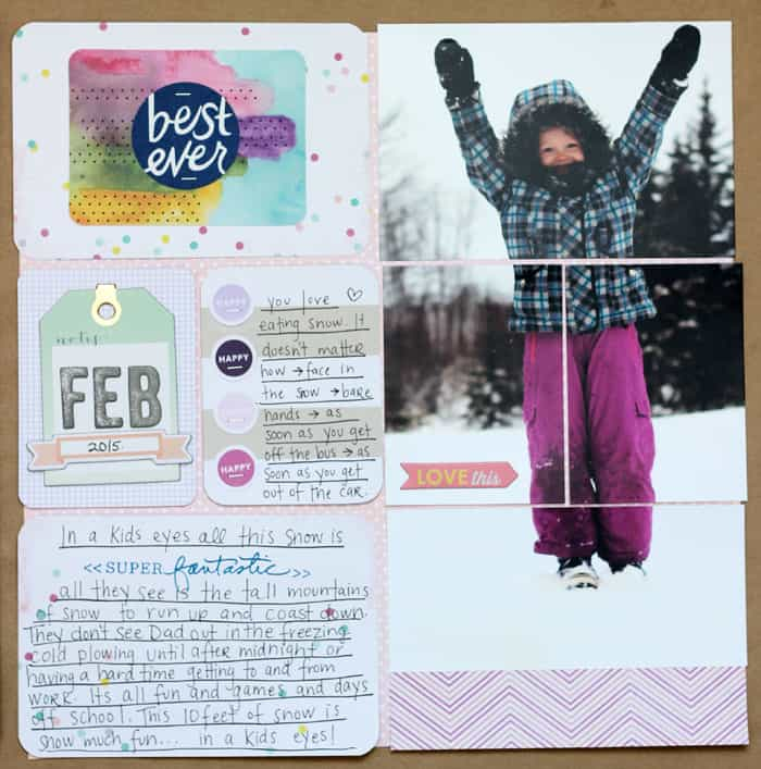 winter project life layout