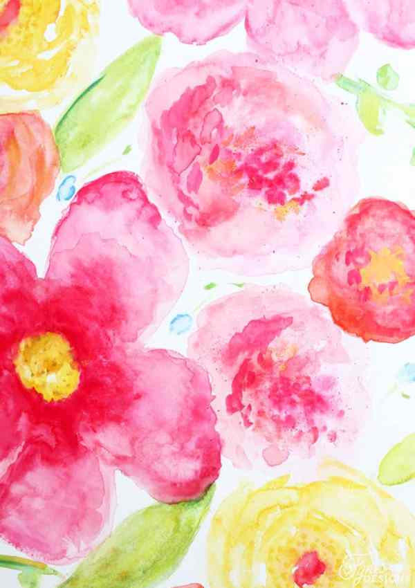Beginner Floral Watercolor Painting