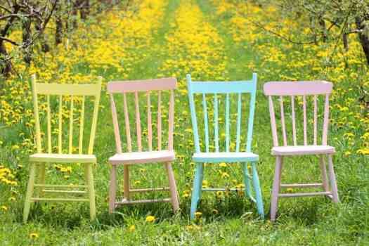 Summer Inspired painted furniture with Voice of Color Sun Proof exterior colors