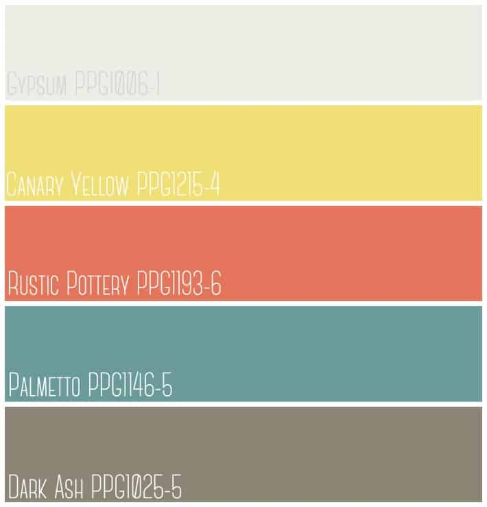 Color Palette from PPG Voice of Color regional collection