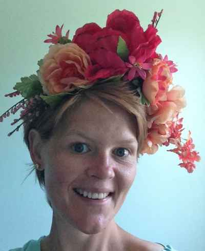 make a floral crown into a wreath
