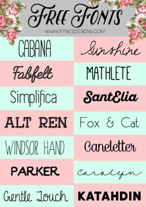 14 Fabulous Free Fonts from www.fynesdesigns.com