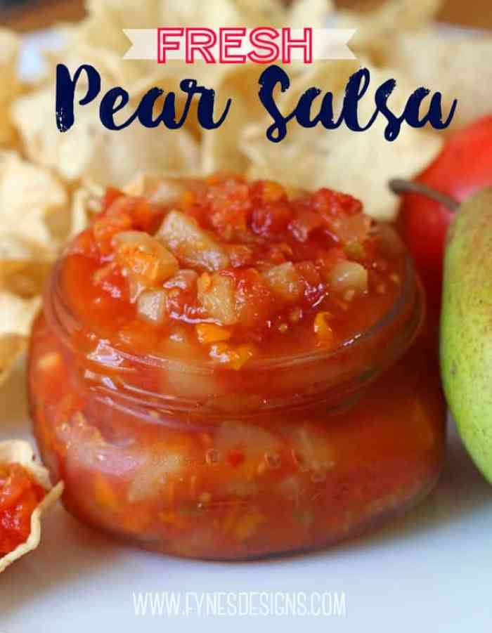 Sweet and Spicy Fresh Pear Salsa Recipe- great for dipping and adding to recipes