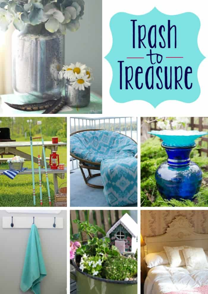 Check out these amazing ideas for taking dumpster finds and creating something fun and useful