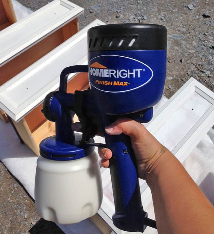 Home Right paint sprayer for furniture refinishing gives a smooth professional finish