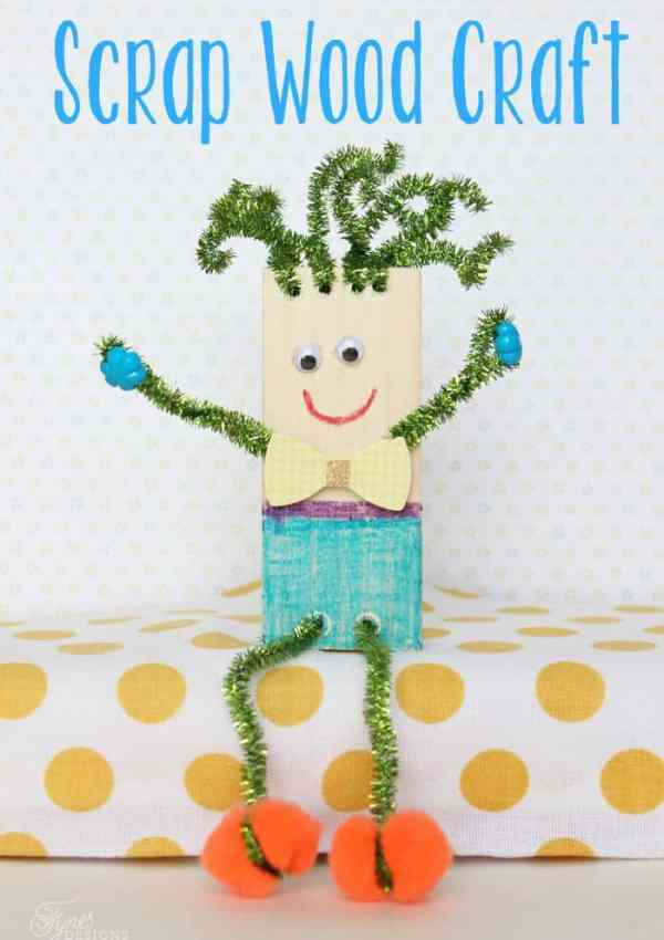 Wood Scrap Kids Craft- Summer Boredom Buster